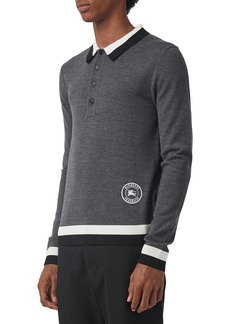 Burberry Men's Brandon Wool Polo Sweater