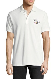 Burberry Men's Burnton Rainbow-Logo Polo Shirt
