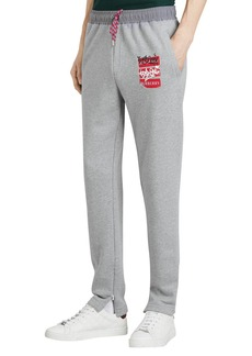 Burberry Men's Check-Patch Sweatpants