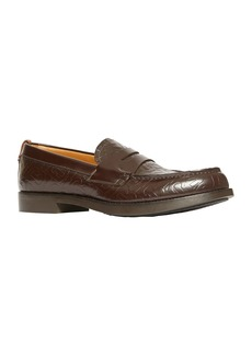 Burberry Men's Emile TB-Embossed Leather Penny Loafers