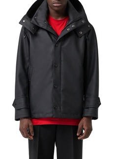 Burberry Men's Hastings Hooded Coat w/ Water-Resistant Coating