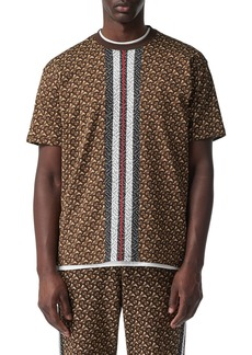 Burberry Men's Munley TB-Monogram Striped T-Shirt