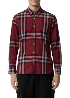 Burberry Men's Richard Check Sport Shirt