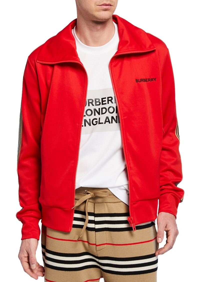 Burberry Men's Silas Embroidered Zip-Front Jacket