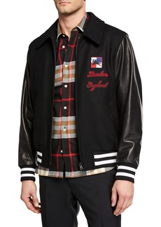 Burberry Men's Stockbridge Wool-Blend Bomber Jacket
