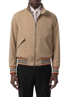 Burberry Men's Whitstable Striped-Trim Bomber Jacket