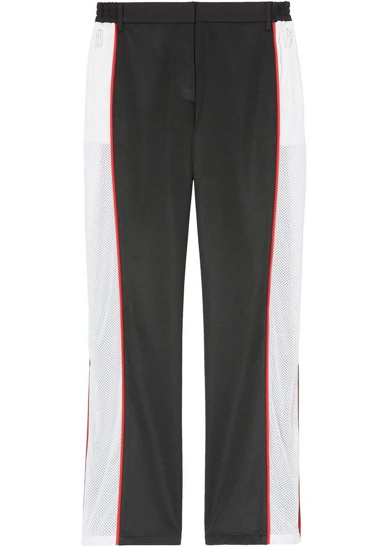 Burberry mesh embellished tailored track pants