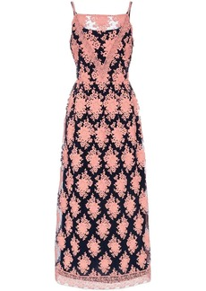 Burberry Mesh floral embellished lace dress