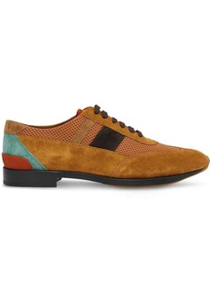Burberry Mesh Panel Suede Lace-up Shoes