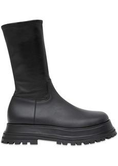 Burberry mid-calf chunky boots