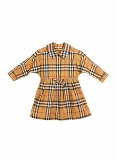 Burberry Mini Crissida Long-Sleeve Check Dress  Size 6 Months-3
