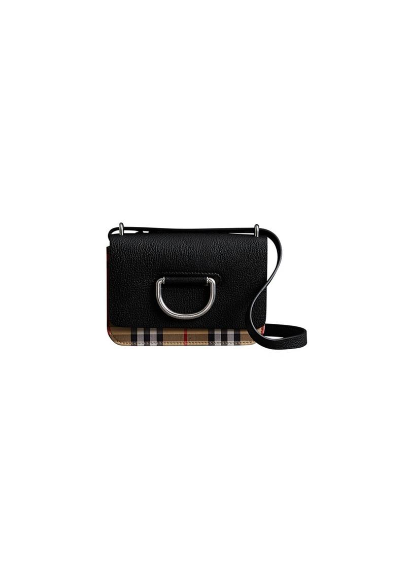 13ba94520e30 Burberry Mini D-Ring Check Crossbody Bag