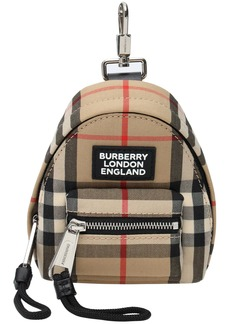 Burberry Mini Jett Check Canvas Key Holder