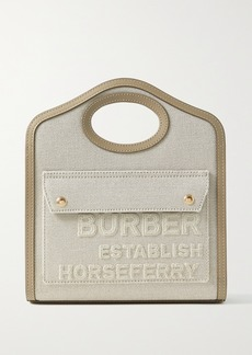 Burberry Mini Leather Tote