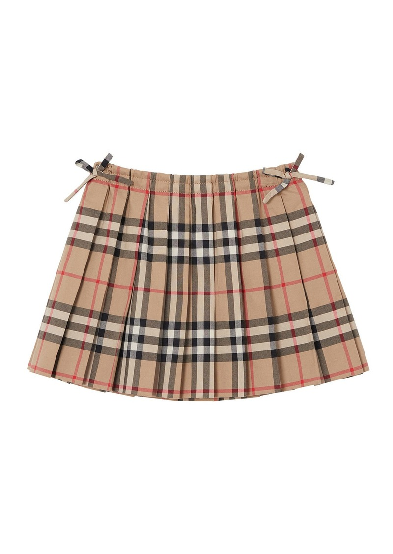 Burberry Mini Pearly Archive Check Pleated Skirt  Size 6M-2