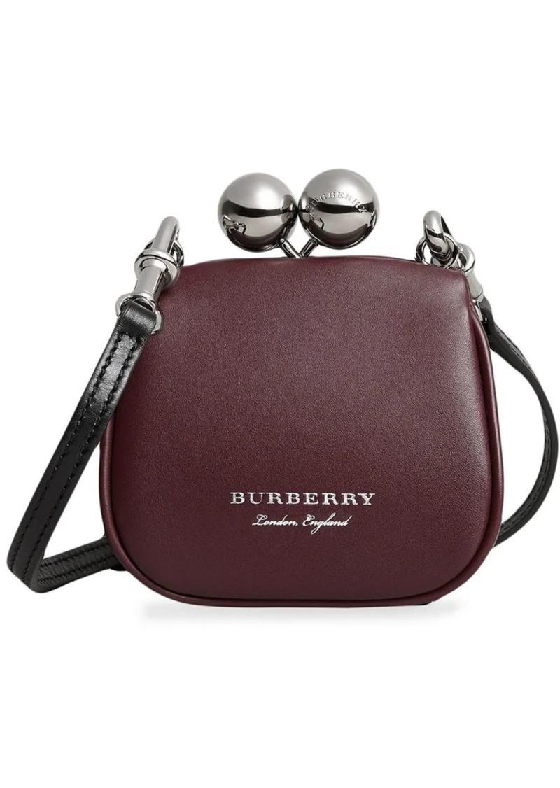 e8cf3a5a6f2d Burberry mini two-tone leather metal frame clutch bag