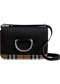 Burberry mini vintage check-trim D-ring bag