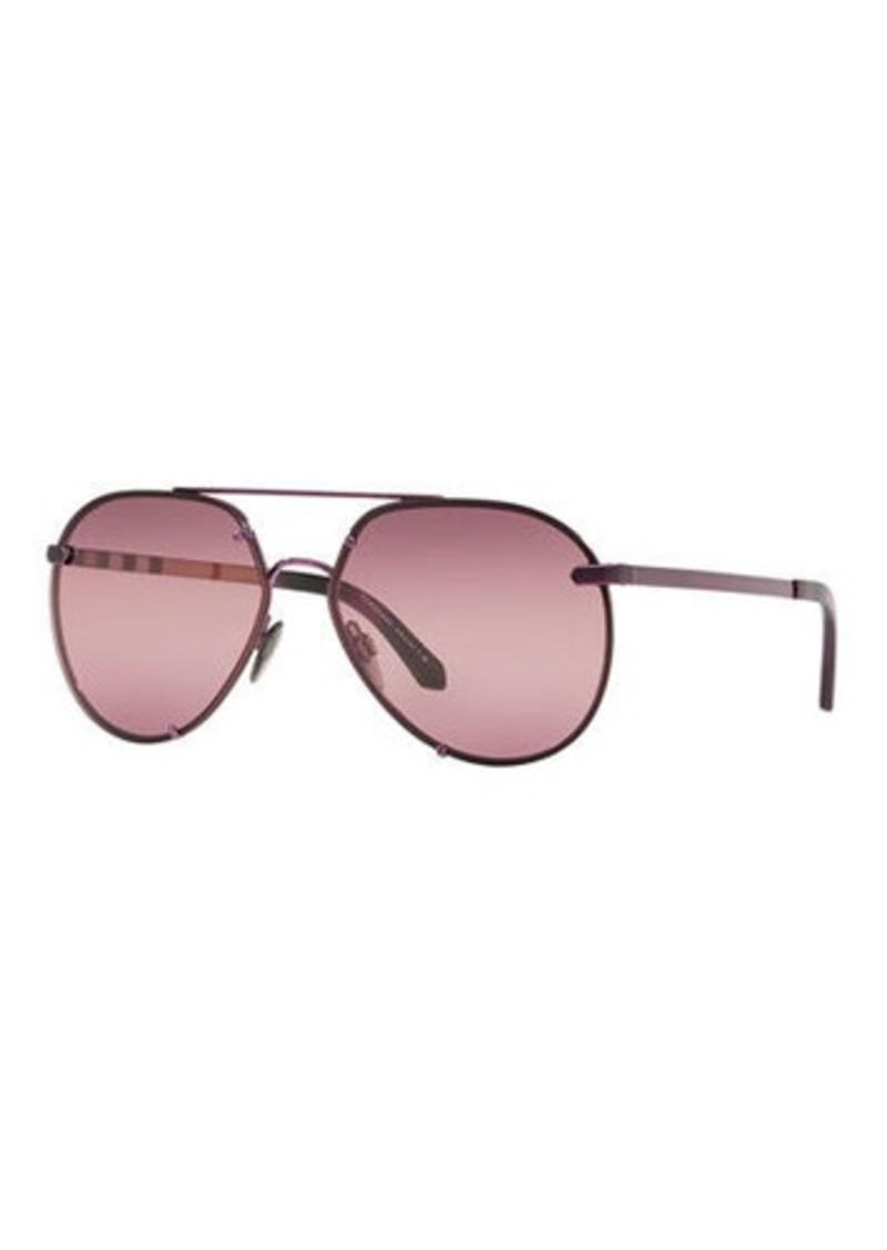 ddcd15baddb0 Burberry Mirrored Metal Aviator Sunglasses | Sunglasses