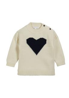 Burberry Mixed-Knit Heart Intarsia Sweater