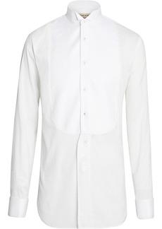 Burberry Modern Fit Panelled Bib Cotton Silk Evening Shirt