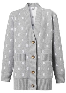 Burberry monogram button-front cardigan