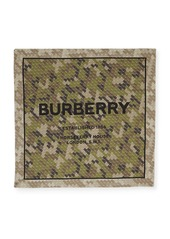 Burberry Monogram Camo Square Scarf