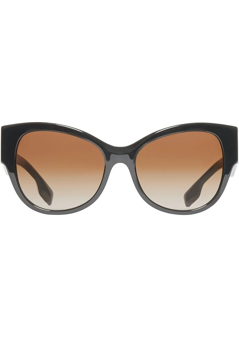 Burberry Monogram Detail Butterfly Frame Sunglasses