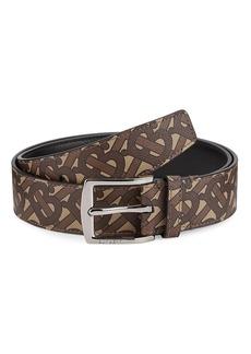Burberry Monogram E-Canvas & Leather Belt