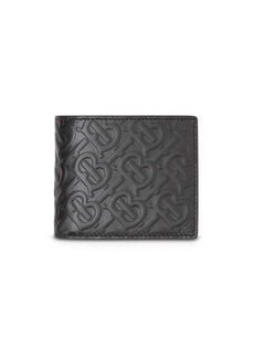 Burberry Monogram Leather Bifold Wallet with ID Card Case
