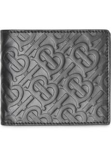 Burberry Monogram Leather International Bifold Wallet