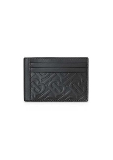 Burberry Monogram Leather Money Clip Card Case
