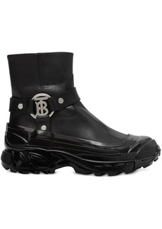 Burberry Monogram motif buckle detail ankle boots