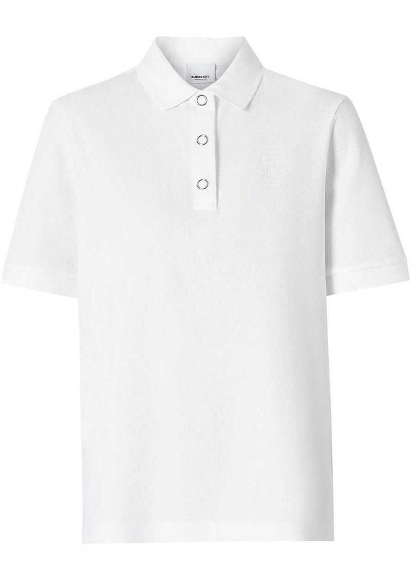 Burberry Monogram Motif Cotton Piqué Polo Shirt