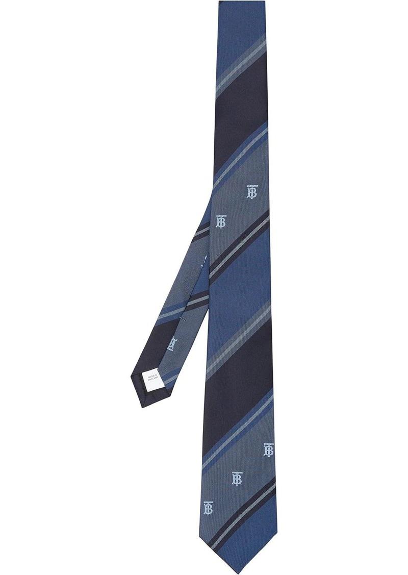 Burberry monogram motif jacquard tie