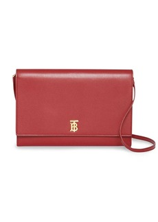 Burberry Monogram Motif Leather Bag with Detachable Strap