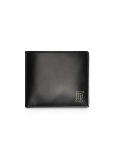 Burberry Monogram Motif Leather International Bifold Wallet