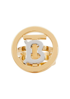 Burberry monogram-motif two-tone ring