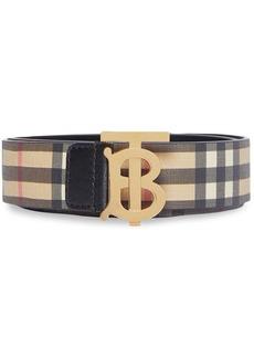 Burberry monogram motif check belt