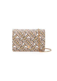 Burberry Monogram Print Card Case with Detachable Strap