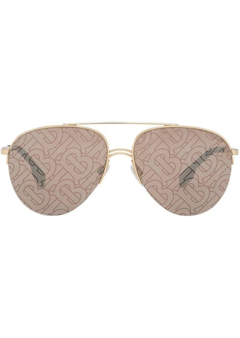 Burberry Monogram print pilot sunglasses