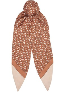 Burberry Monogram Print Silk Hair Scarf