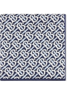 Burberry Monogram Print Silk Satin Pocket Square