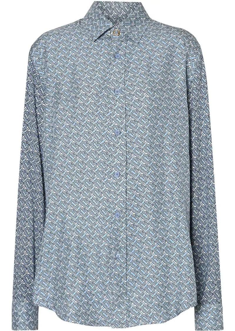 Burberry Monogram Print Silk Shirt