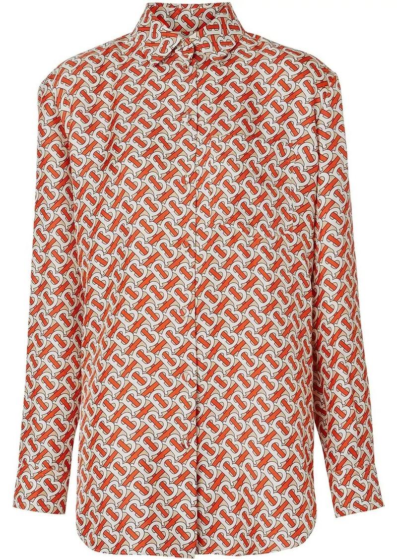 Burberry monogram print shirt