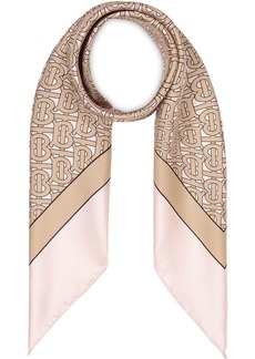 Burberry Monogram Print Silk Square Scarf