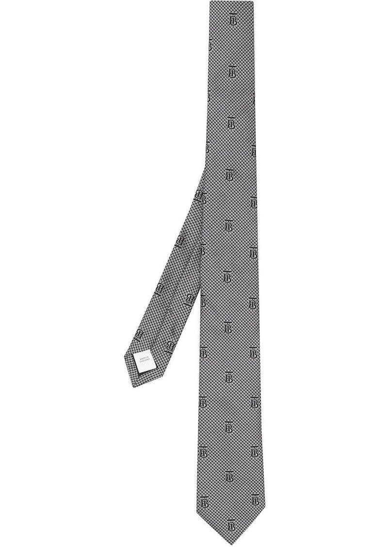 Burberry monogram print tie