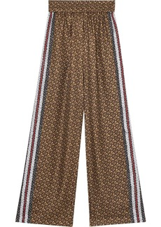 Burberry monogram print trousers