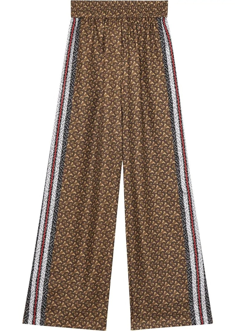 Burberry monogram print trousers