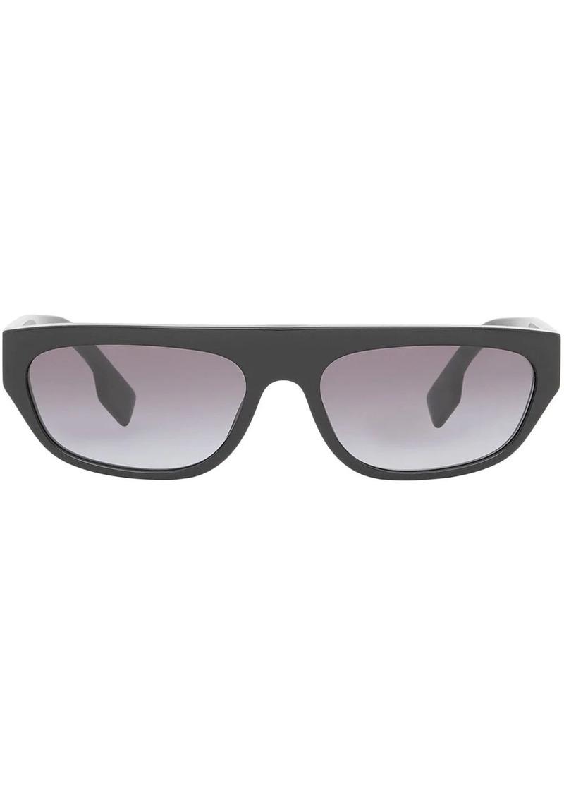 Burberry monogram rectangular frame sunglasses