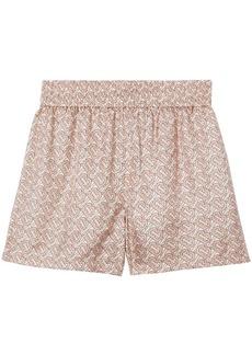 Burberry monogram silk twill shorts